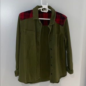 green and plaid jacket